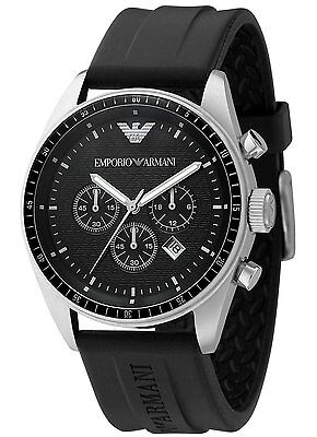 New Emporio Armani Ar0527 Black Mens Watch - 2 Years Warranty - Certificate