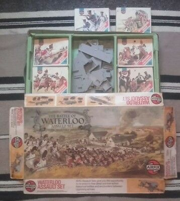 Vintage Airfix The Battle Of Waterloo Assault Set c1975 - in used condition