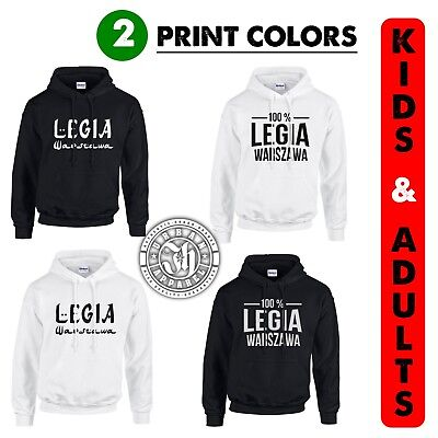 LEGIA Warszawa / Warsaw polish club Kids & Adults Hoodie fan team  ideal gift