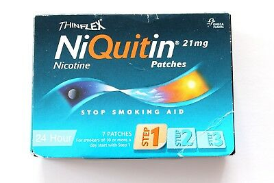 NiQuitin 21mg Patches Nicotine 24 Hour Step 1 - 7 Patches - (Light Blue)