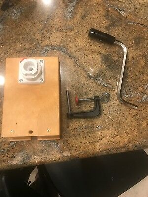 Family Grain Mill Hand Powered Crank Base, Brand New Messerchmidt