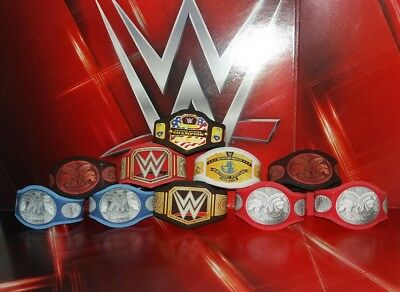 10 WWE Custom Made Bundle Titles Belts For Jakks/Mattel Wrestling Figures WWF