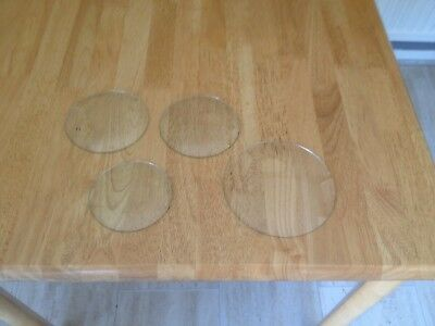 Vintage 4 Glass Clock Faces