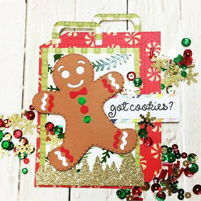 Xmas Ginger people cutting dies stencil scrapbook album paper card embossing BC