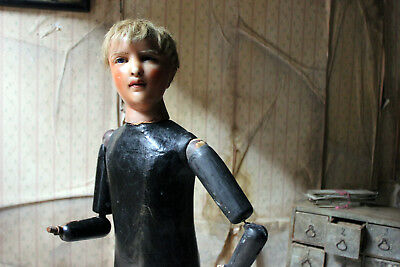 Antique Early 20thC French Wax & Composition Shop Display Mannequin c.1910-25
