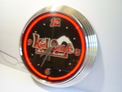 "Very Nice 15"" Kids Cave ""No Parents Allowed"" Quartz  Neon Wall Clock"