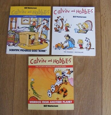 3 Calvin and Hobbes books by Bill Watterson