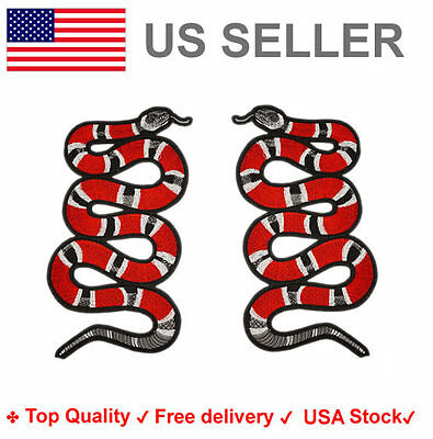 Coral Snake Embroidered Iron On Sew On Patches king Applique Embroidery badge