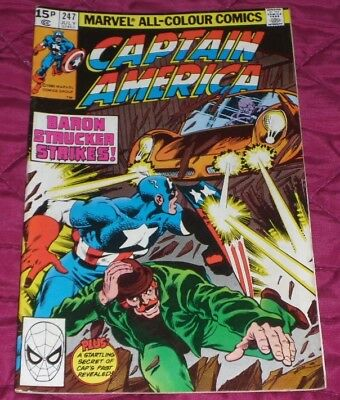 Captain America 247#july 1980 By The Dawns Early Light And Only 99P