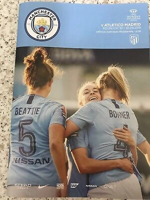 Man City Women FC v Atletico Madrid FC Programme (Season 2018-2019)