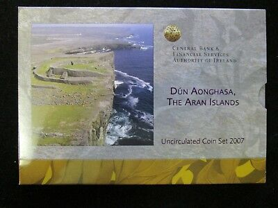 Irland 3,88 Euro 2007 Stgl. KMS 1 Cent bis 2 Euro The Aran Islands mit Folder