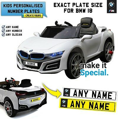 Ride On Motorbike Personalised Number Plate For Kid Electric