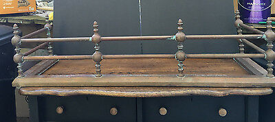 Antique 42 inch Solid Copper Fireplace Fender Patina