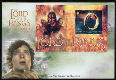 ISLE of MAN 2003 SG1124 Lord of the Rings Minisheet FDC