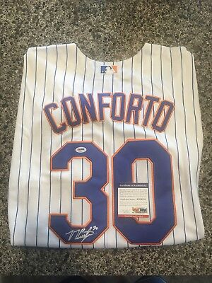 db52a4ea1 Michael Conforto Mets Autographed Jersey PSA DNA Authenticated