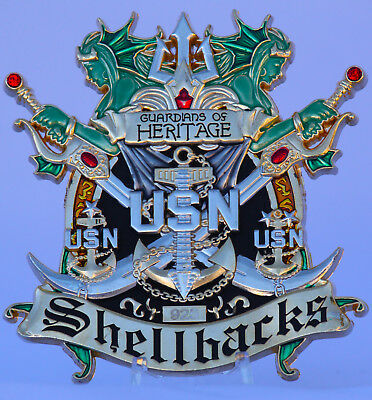 """3"""" Chief Petty Officer (CPO) Challenge coin SHELLBACK"""