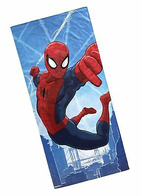 Marvel Spiderman Cotton 28 x 58 Beach Towel Soft Bath Swimming Pool Mat Kids Gif