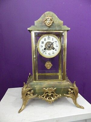 French Crystal Regulator Mantle Clock Movement Fully Restored In Great Condition