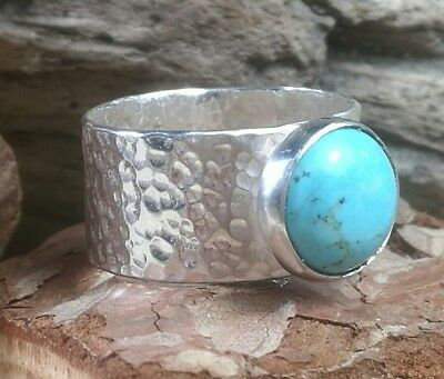 Hammered Sterling Silver Handmade Boho Opal Ring Urban Outfitters Rock /& Feather