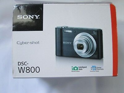 Sony Cyber-shot DSC-W800 20.1MP Digital Camera - Black USED