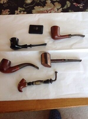 Set Of 5 Vintage Pipes