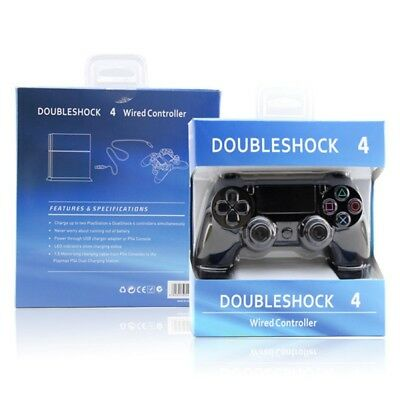 Doubleshock Ps4 Wired Controller Game Controller With Led Indicator Black/white