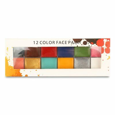 12 Color Face Art Halloween Party Oil Paint Painting Flash Tattoo R9