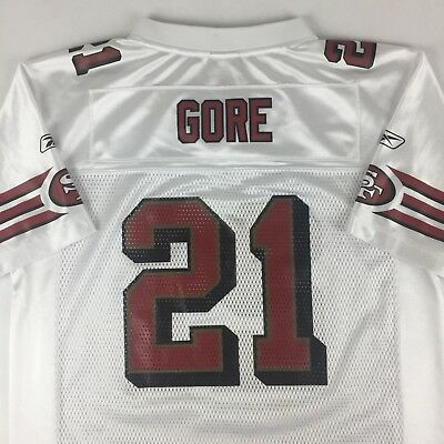 dc4bfc4e9 Frank Gore  21 San Francisco 49ers NFL Authentic Reebok Jersey Youth Large  14 16