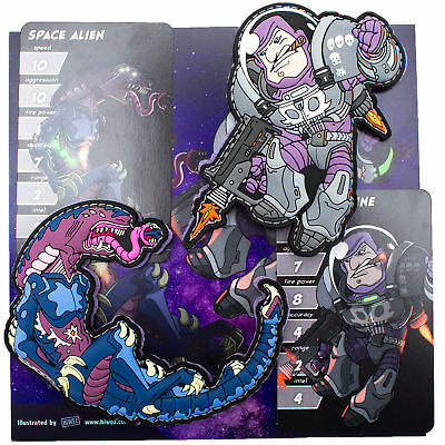 Space Force Marine Spacemarine vs. Alien Monster Patch Set by HIWEZ