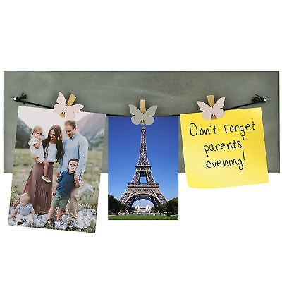 Memory Board Hanging Butterfly Clip Granite Effect Photograph Picture Frame Gift