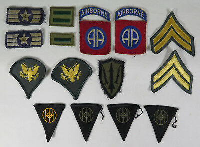 Lot of 15 Vietnam Era Vintage U.S. Military Patches 82nd Airborne & More