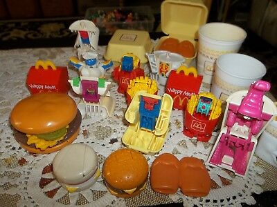 Vintage 1988-89 McDonalds Happy Meal Food~Transformers~Cups~Robot~McNuggets