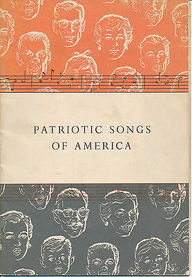 """""""Patriotic Songs of America"""" published by John Hancock Mutual Life 1956"""