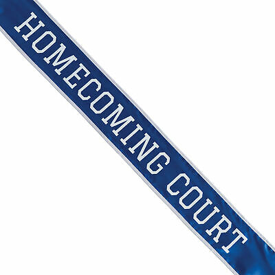 Shindigz School Homecoming Court Sash Blue/White
