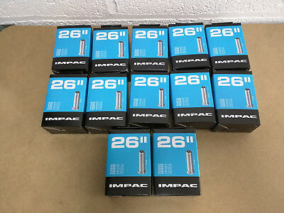 "12 x IMPAC by SCHWALBE 26"" SCHRADER BIKE CYCLE INNER TUBE JOBLOT LOT BULK STOCK"