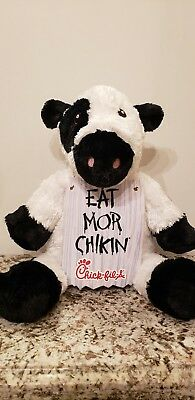 Chick Fil A Black White Cow Eat Mor Chikin Soft Large Plush Stuffed Animal 20