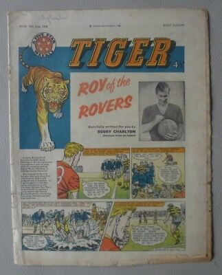 Tiger Comic (Featuring Roy of the Rovers), 18th June 1960.