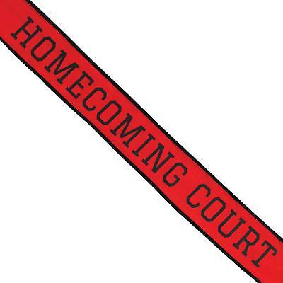 Shindigz School Homecoming Court Sash Red/Black