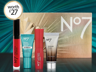 Boots No 7 stand out favourites gift set primer,protect &perfect,lip gloss