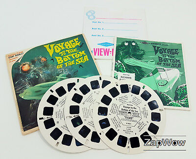 VOYAGE TO BOTTOM OF SEA VIEWMASTER 1966 TV SciFi Story Reels x3 Set B483 1960s