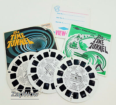 TIME TUNNEL VIEWMASTER 1966 SciFi TV Adventure Story Reels x3 Set B491 1960s