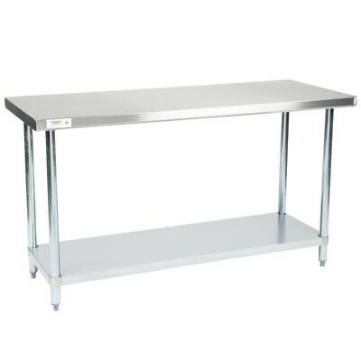 """Deluxe Stainless Steel Worktables - 60 x 30"""""""
