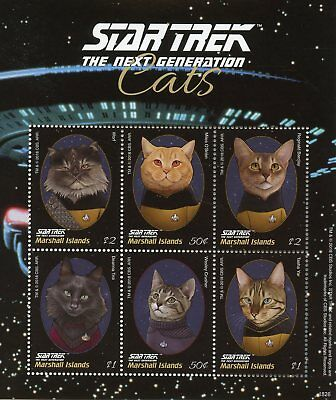 Marshall Islands 2018 MNH Star Trek Next Generation Cats Worf 6v M/S II Stamps