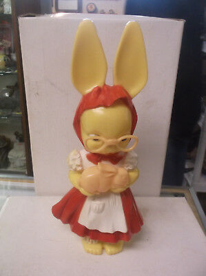 rare Vintage Knickerbocker Bank Girl Rabbit 1950's hard plastic bunny hollywood