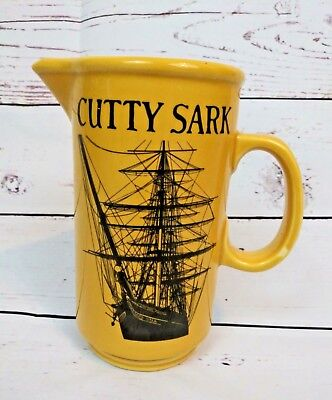 "Vintage Cutty Sark Yellow 6¾"" Bar Pitcher Sailing Ship"