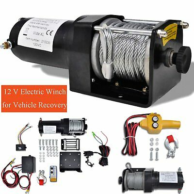 12 V Electric Winch with Remote Control 4x4 Car ATV Truck Trailer Recovery Winch