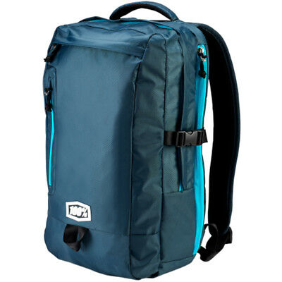 100% Transit Charcoal Blue Motorcycle Backpack