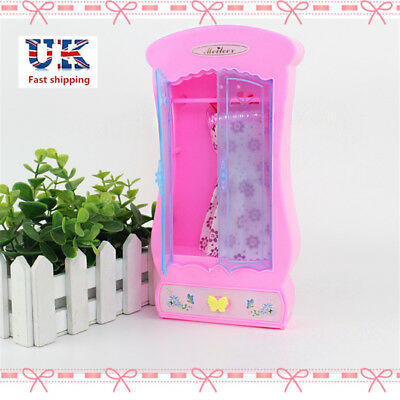 Lovely Barbie Wardrobe Closet Bedroom Furniture For Toys Doll Dress Girl Gifts