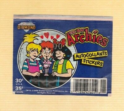 1989  Vintage Diamond The New Archies Stickers Unopened Pack