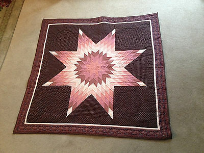 Star Quilt w/ Pink & ReddishTones from Frank Foley Jr. Collection